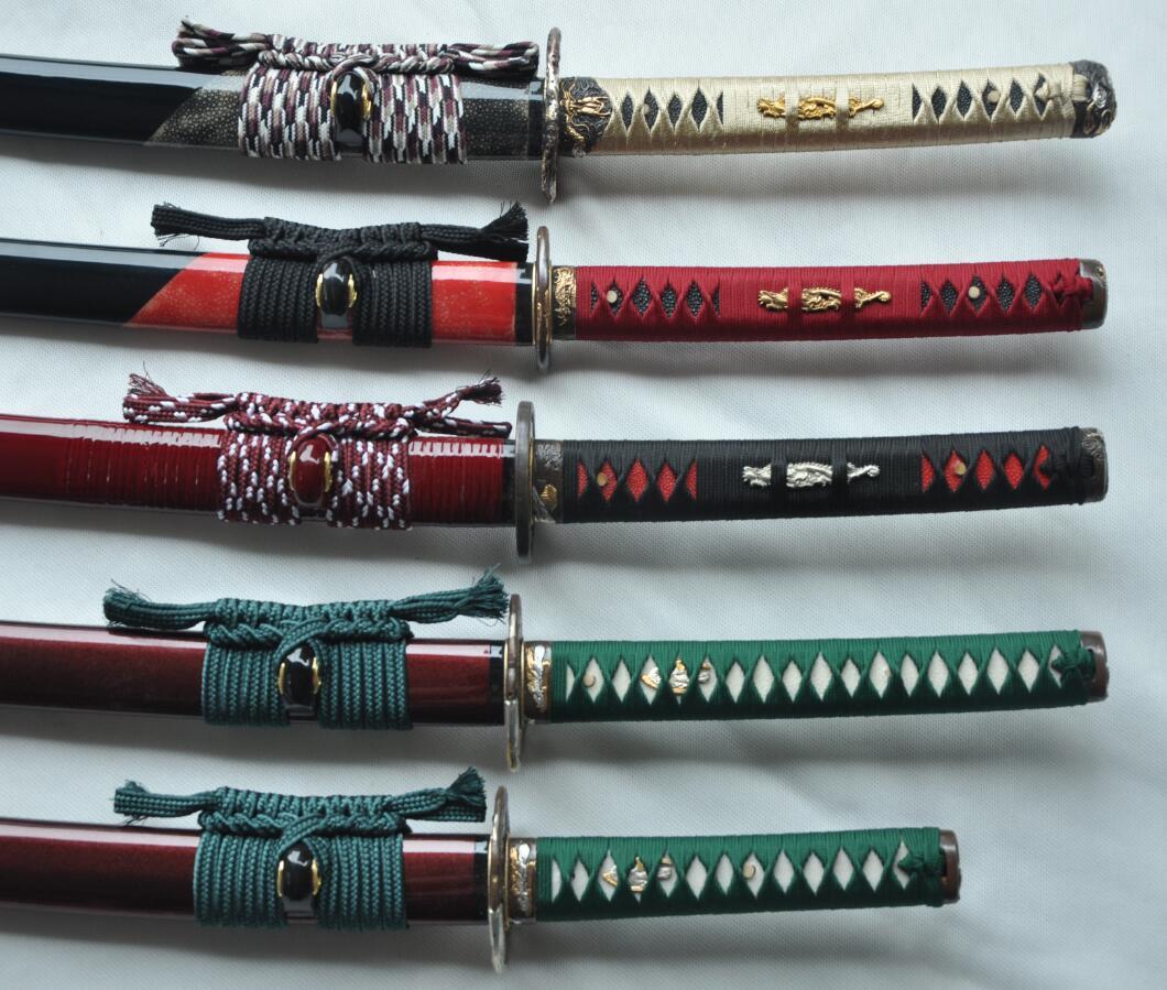 new made customized katana sword sets