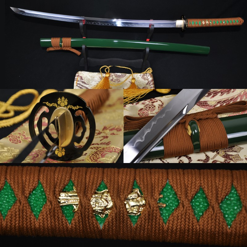 High Quality Japanese Samurai Sword KATANA CLAY TEMPERED FULL TANG BLADE