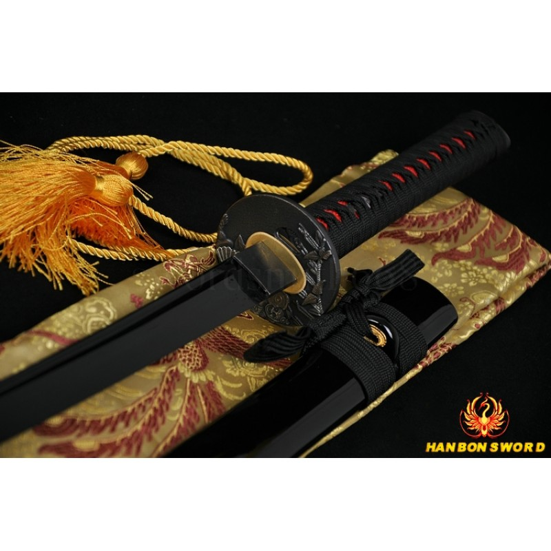 JAPANESE BLACK SWORD Oil Quenched FULL TANG BLADE