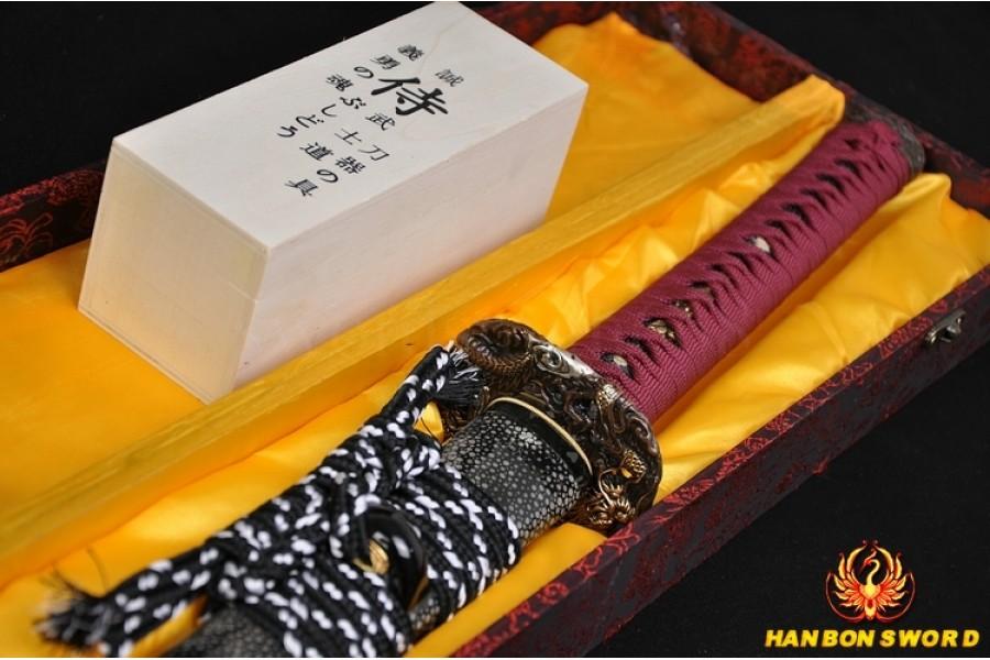 High Quality Japanese Samurai Sword Katana Hazuya Polished