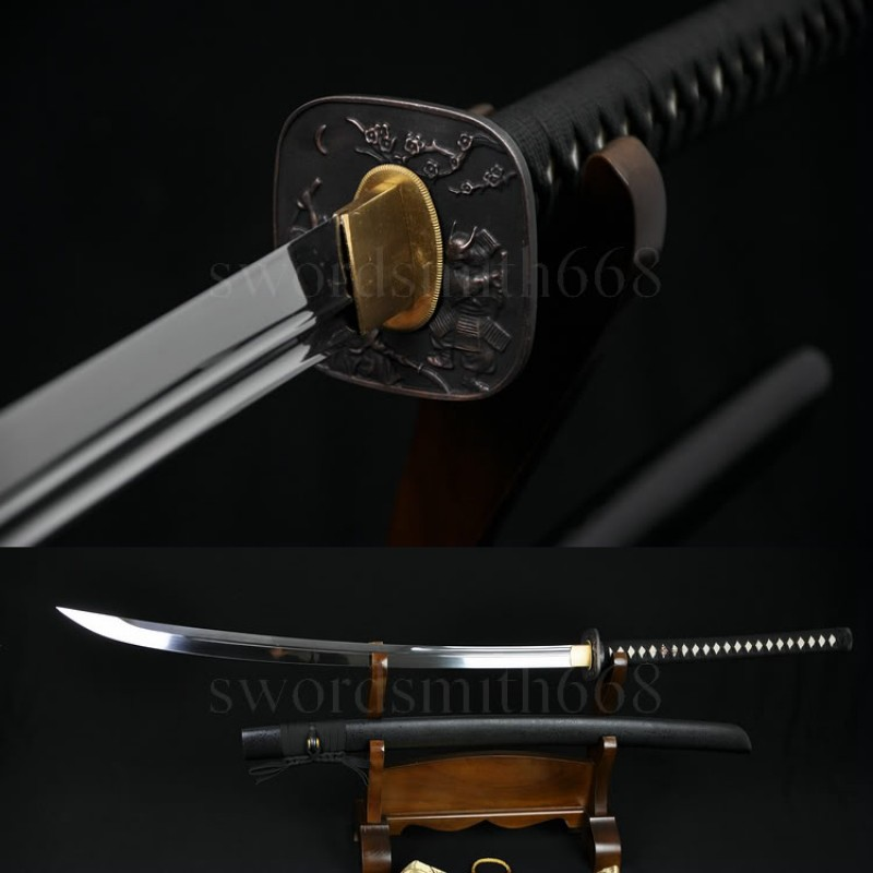 High Quality Japanese Samurai Sword NAGINATA T10 Steel Oil Quenched Full Tang Blade