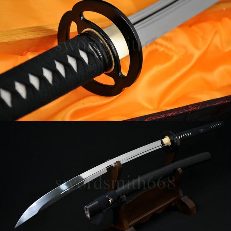 T10 Steel Oil Quenched Full Tang Blade Japanese Samurai Sword NAGINATA Very Sharp