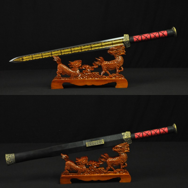HIGH QUALITY HAND MADE CHINESE SWORD HAN JIAN FOLDED STEEL BLADE