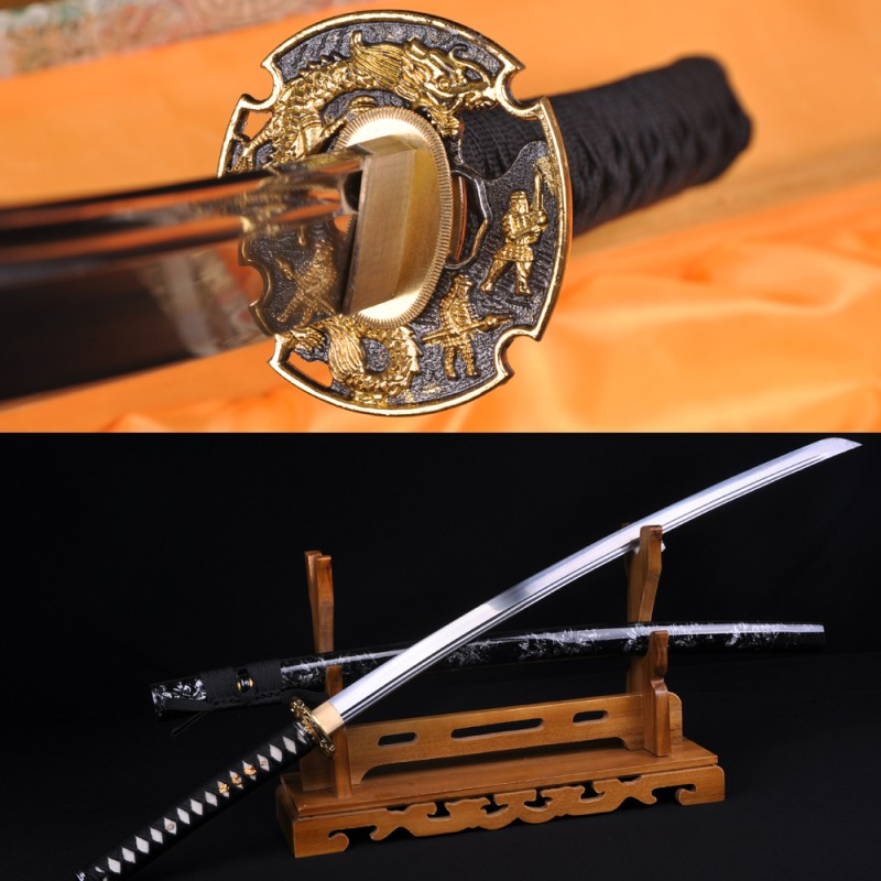 Japanese Katana Samurai dragon sword high carbon steel full tang blade