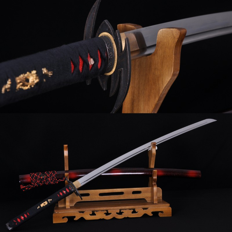 Japanense Katana Bat Sword carbon steel full tang blade very sharp