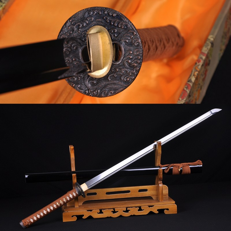 Handmade Ninjato Sword Damascus Steel Full Tang Blade Very Sharp