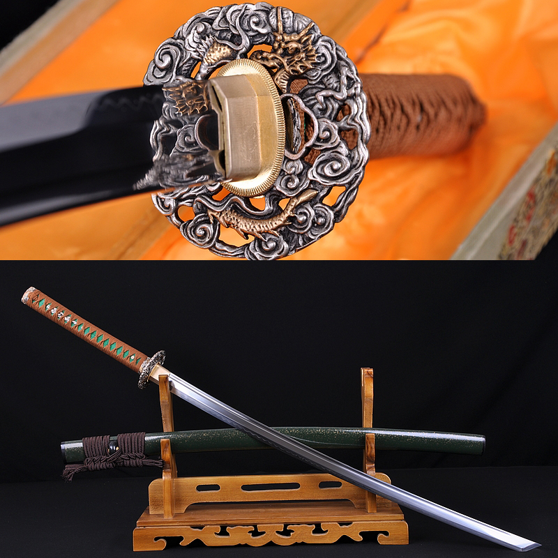 Japanese Sword SAMURAI KATANA CLAY TEMPERED BLADE FULL TANG