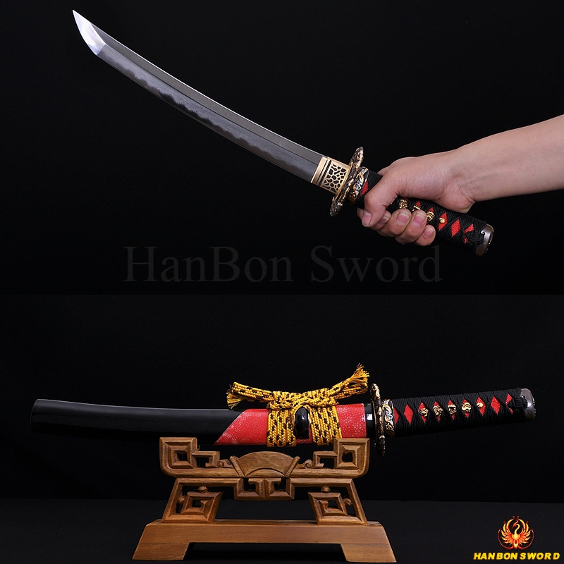TOP QUALITY TRADITIONAL HAND MADE JAPANESE SAMURAI SWORD TANTO KOBUSE BLADE RAY SKIN SAYA