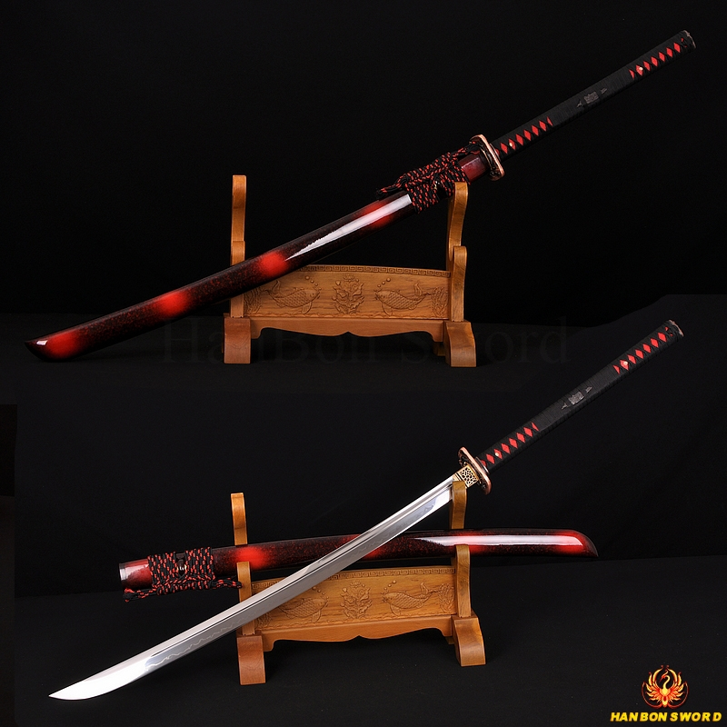 "45"" Traditional Hand Forged Japanese Samurai Naginata Sword Clay Tempered Full Tang Blade Very Sharp"