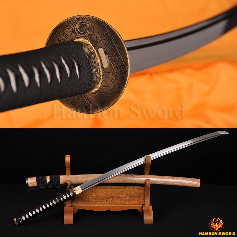 Japanese Samurai Katana Sword Hand Forged Damascus steel full tang blade
