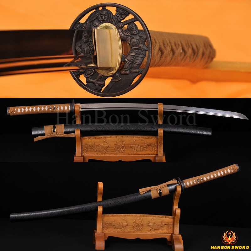 High Quality Iaido sword katana 1060 high carbon steel blade unsharp