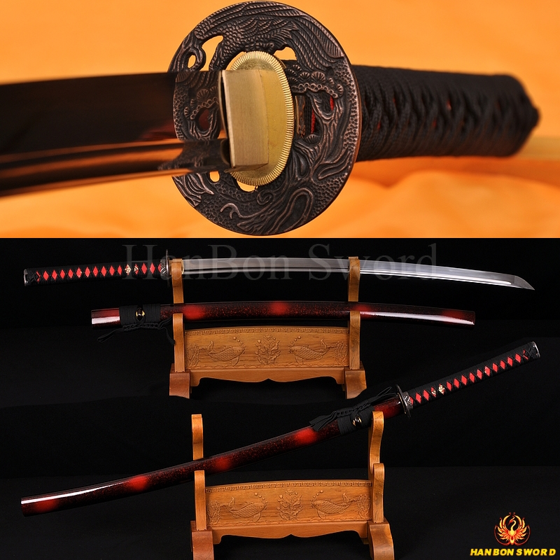 Hawk Koshirae High Carbon Steel Oil Quenched Full Tang Blade Japanese Samurai Sword KATANA