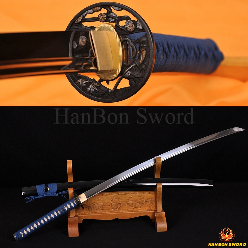 Japanese KATANA SAURAMI SWORD 1060 STEEL HIGH CARBON STEEL OIL QUENCHED BLADE
