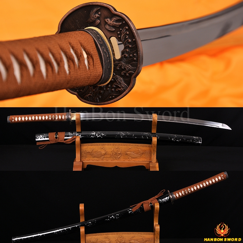 Hand forged Japanese Sea Bird KATANA sword AISI 1060 high carbon steel full tang blade