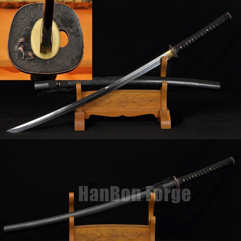 Japanese Katana Sword Handmade 1095 High Carbon Steel Unokubi Zukuri Blade Custom Samurai Sword