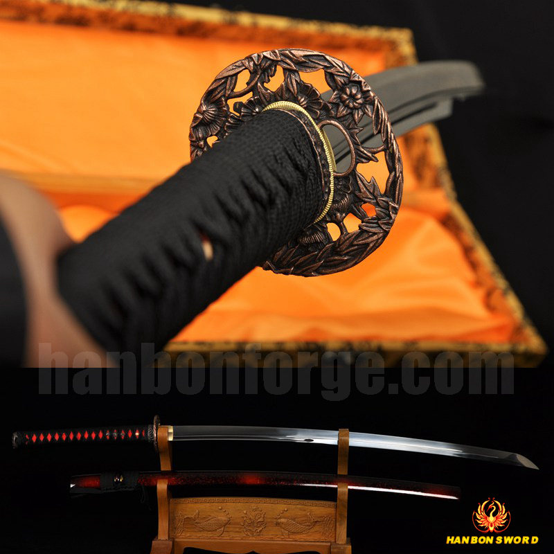 Fully Hand Forged Japanese Samurai Sword Katana Full Tang Oil Quenched Blade Very Sharp