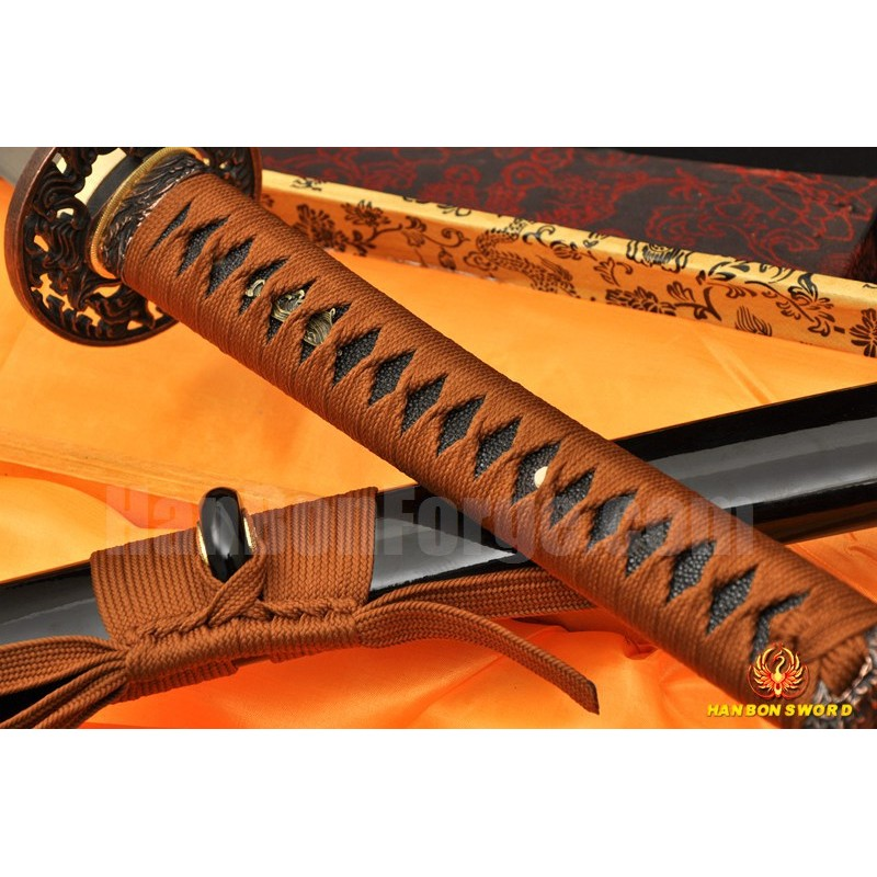 Hand Forged Japanese Sword Damascus steel full tang blade