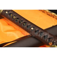 CLAY TEMPERED FULL TANG BLADE LEATHER STRAPS HIGH QUALITY JAPANESE SAMURAI SWORD