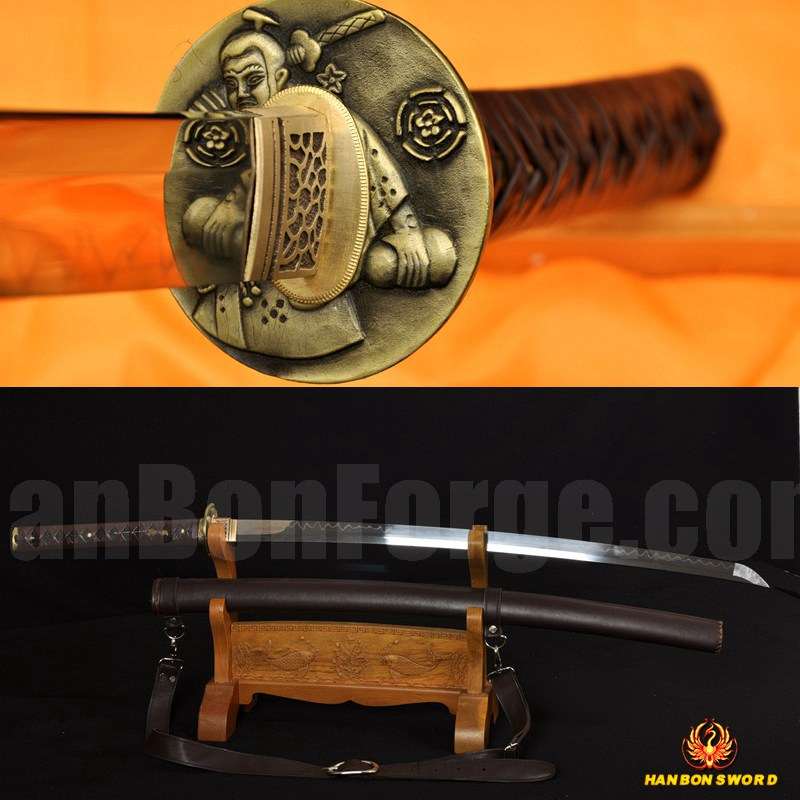 CLAY TEMPERED FULL TANG BLADE LEATHER STRAPS HIGH QUALITY JAPANESE SAMURAI SWORD KATANA