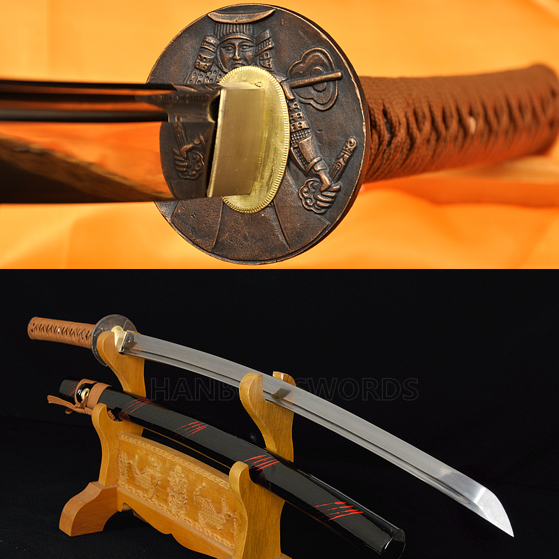 Training Iaido Sword Oil Quenched Full Tang Blade Japanese Samurai Katana UNsharp
