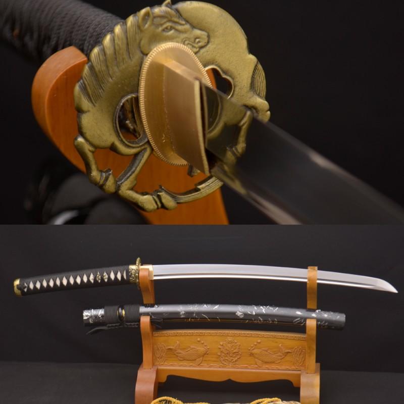 HAND FORGED KO-KATANA JAPANESE SAMURAI SWORD 1095 HIGH CARBON STEEL