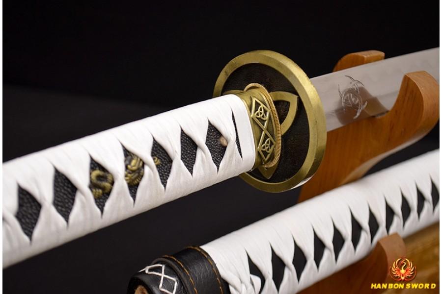 The Walking Dead Sword-Michonne/'s Katana Zombie Killer Battle Realy Sword SHARP