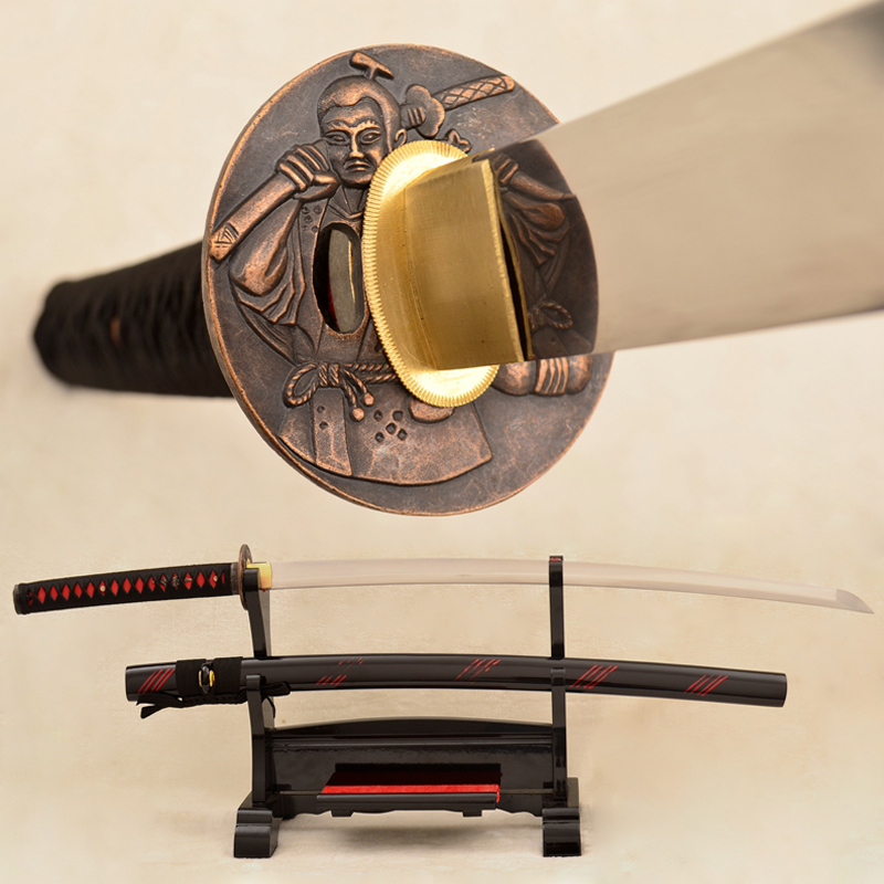 Japanese Samurai Katana 9260 Spring Steel Blade Warrior Sword Battle Ready Sharp