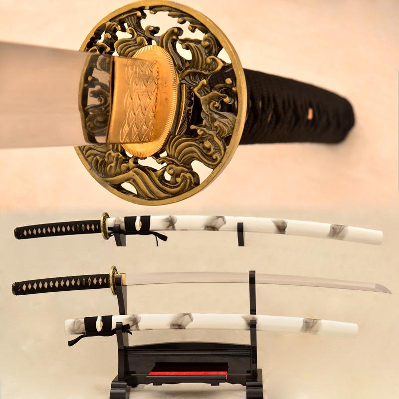 9260 Spring Steel Katana Japanese Samurai Sword No-Hi Full Tang Blade For Sale