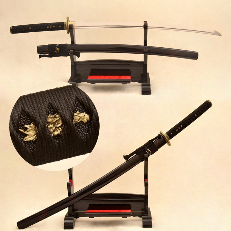 Real katana sword 1095 carbon steel samurai japanese sharp fight blade for sale online shop