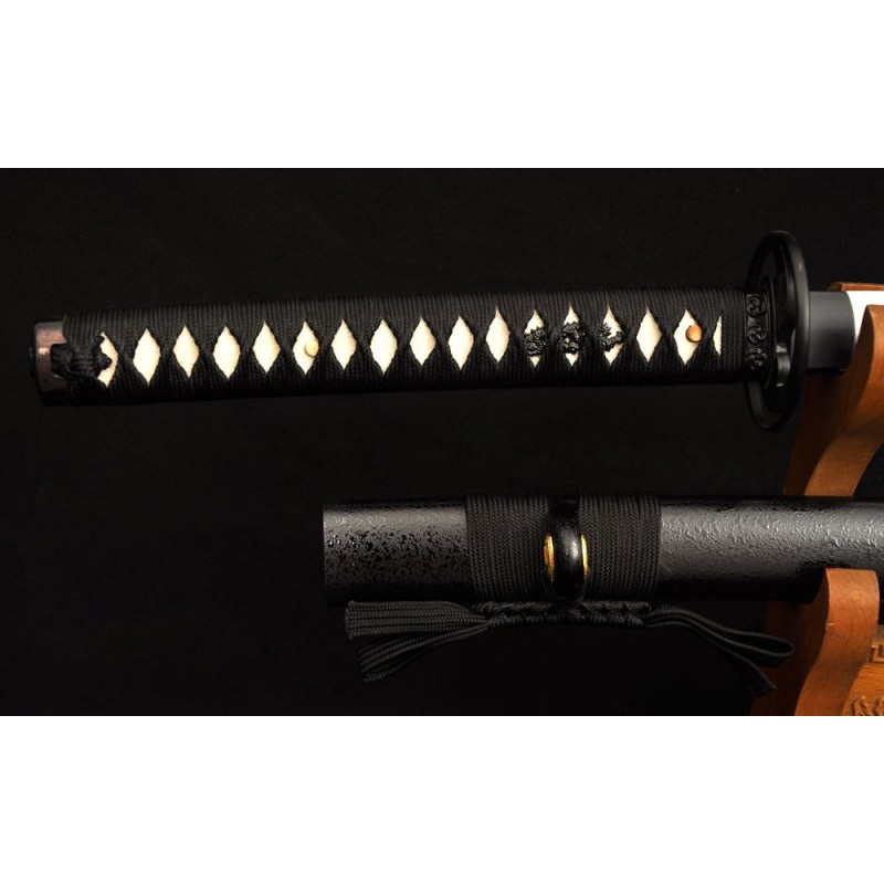 Japanese Samurai Katana Sword Folded High Carbon Steel Full Tang Blade Oil Quenched