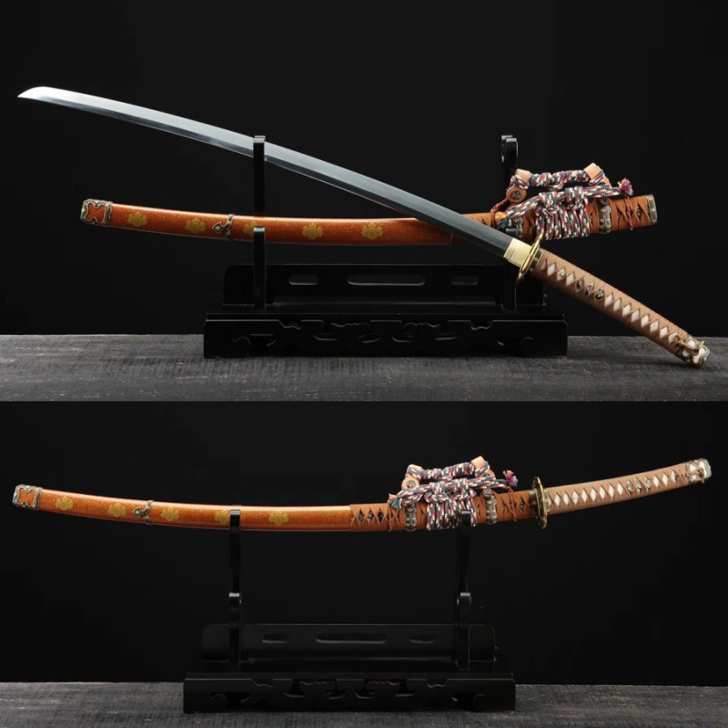 Tachi Sword Japanese Samurai Weapons Folded Steel Hazuya Polish Blade Handmade For Sale