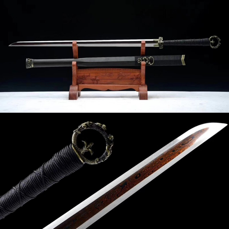 Huan Shou Dao Chinese Swords For Sale Folded Steel Blade Fighting Cold Weapon