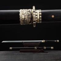 "Dragon Tang Dao Sword Chinese Sword Sword Real Hamon Folded Steel Blade 26"""