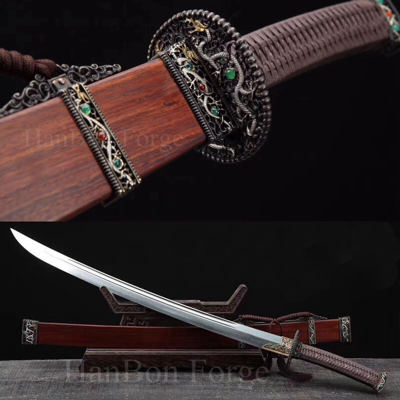 Handmade Chinese Sword Dao (清月) Battle Ready Saber Sword Dragon Theme