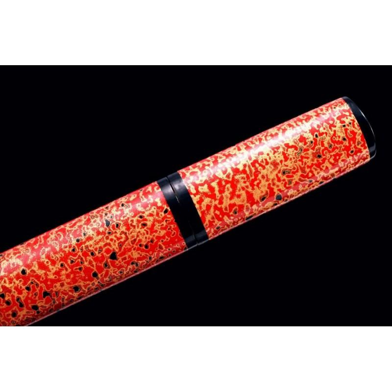 Japanese Tanto Sword Handmade Folded Steel Full Tang Blade Samurai Sword