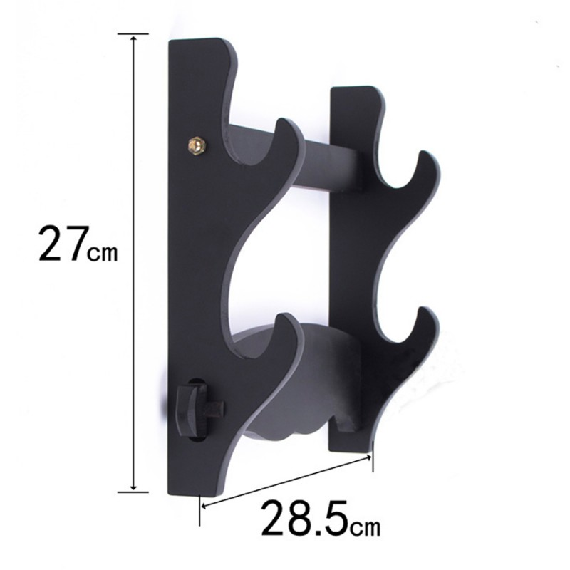 Sword wall display stand black fibreboard rack 2 layers online for samurai japanese swords