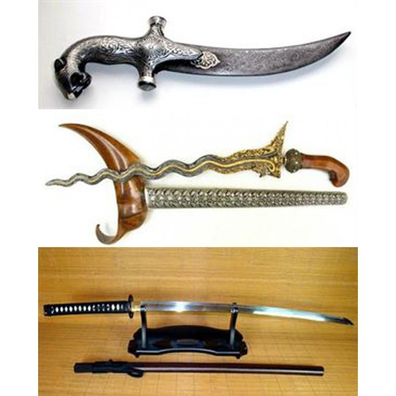 The world's three famous swords