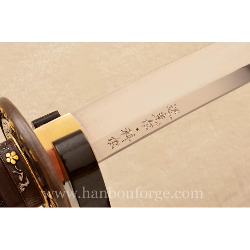 Custom Made 1060 Steel Katana Hualee Wood Saya For US Customer