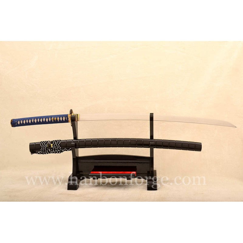 Customized Hira-zukuri Clay tempered 1095 Steel Japanese Katana Sword