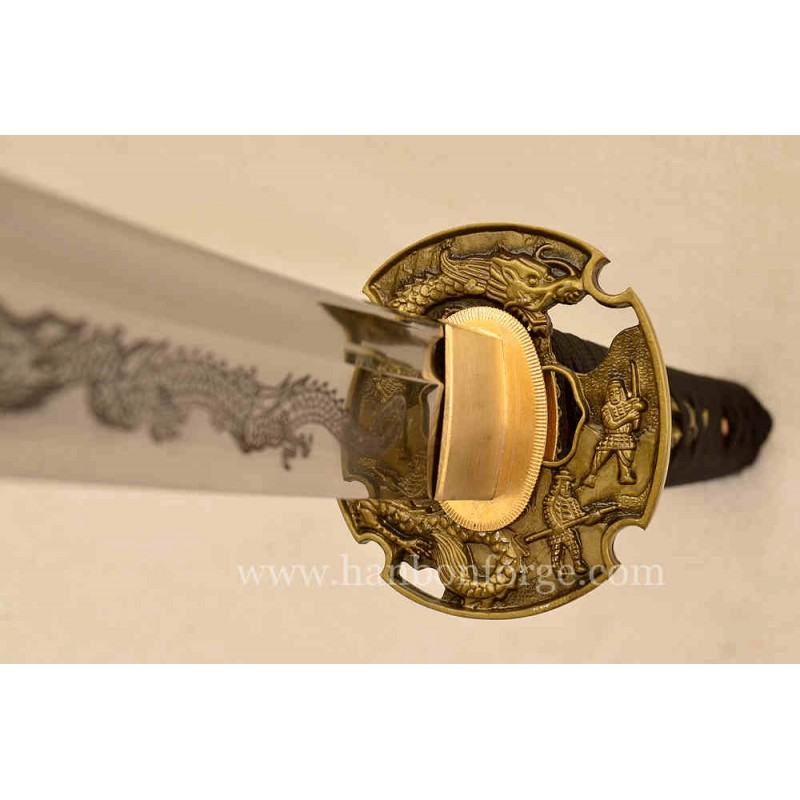Customized T10 Steel Dragon Katana Japanese Sword
