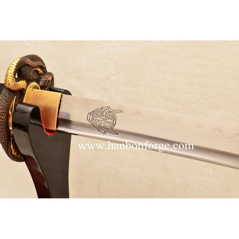 New Custom Katana Folded Steel Clay Tempered Blade Japanese Sword