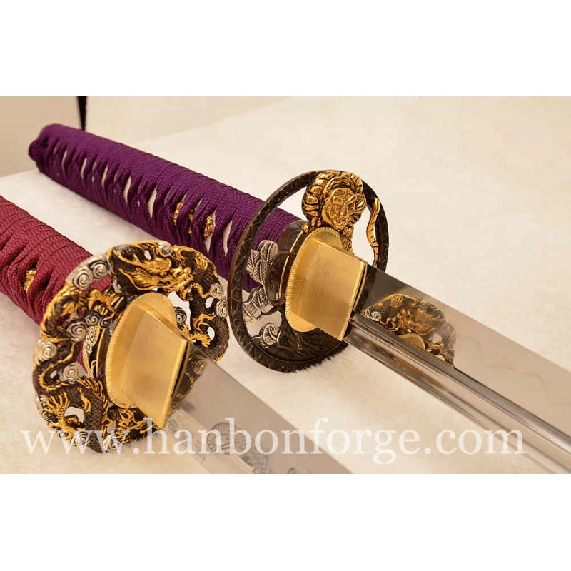 Custom Katana Swords 1060 Steel And Unokubi-Zukuri Clay Tempered 1095 Steel