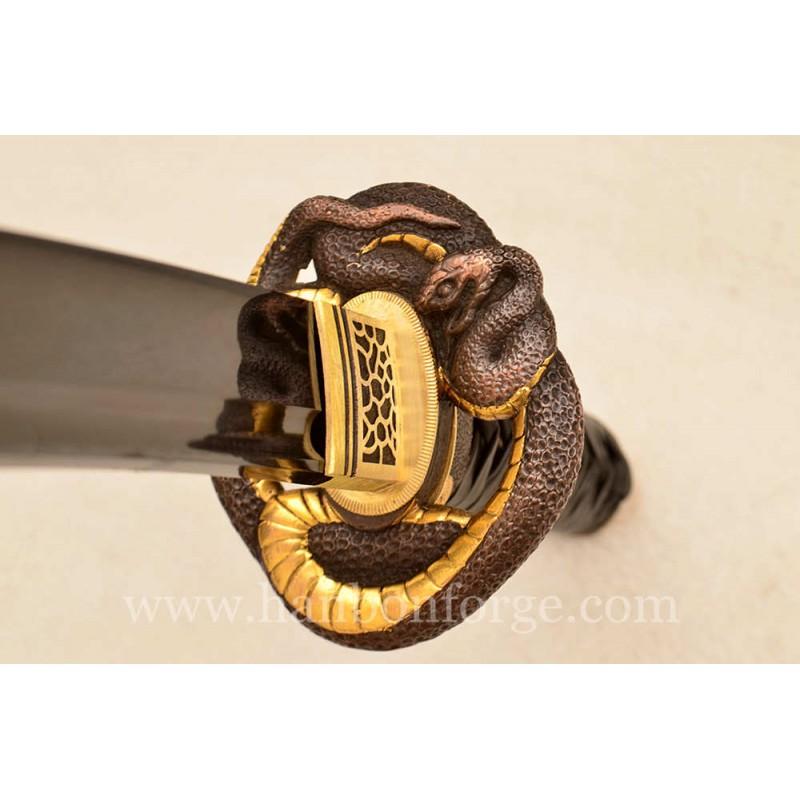 Custom Tanto 1060 Steel Brass Tsuba Japanese Sword