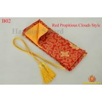 Sword bags for Japanese samurai katana wakizashi tanto- red propitious clouds style