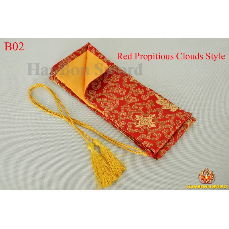Sword bags for Japanese samurai katana wakizashi tanto- red propitious clouds style