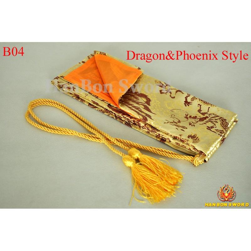 Sword bags for Japanese samurai katana wakizashi tanto-dragon phoenix style